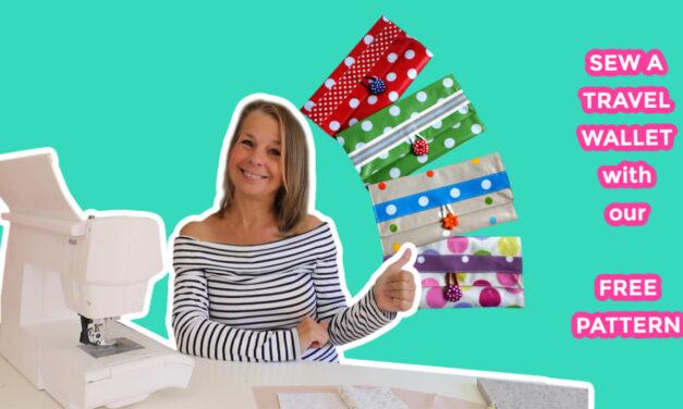 Free Travel Wallet Sewing Pattern