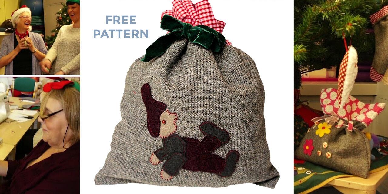Handmade Christmas: Free Gift Bag Sewing Pattern