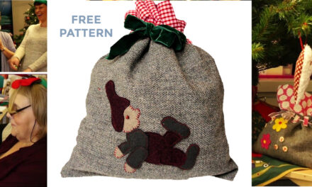 Handmade Christmas: Free Gift Bag Sewing Pattern