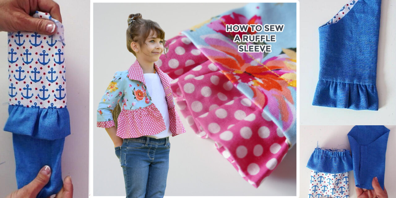 How to create and insert a ruffle sleeve