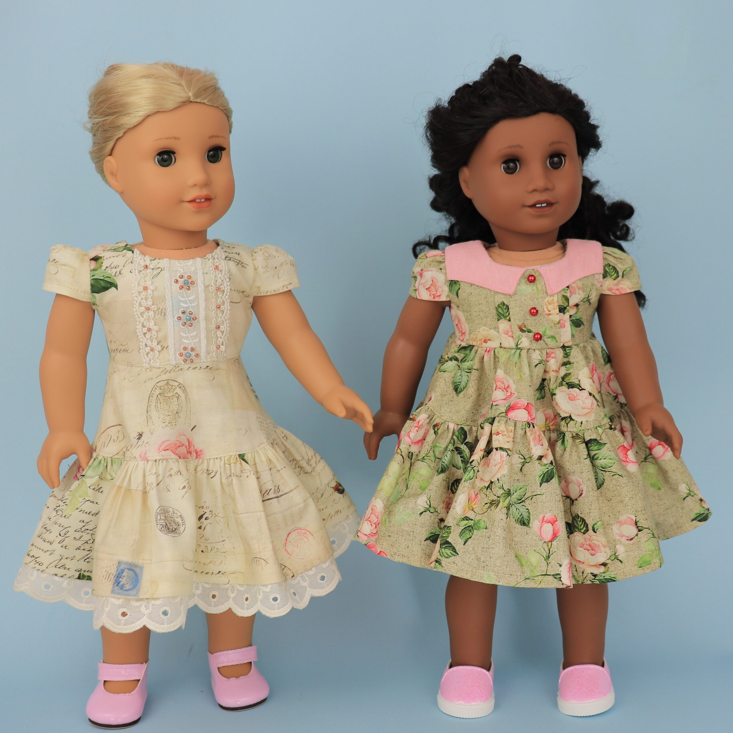 doll dress clothes, american doll, learn to sew, beginner project, pixie faire