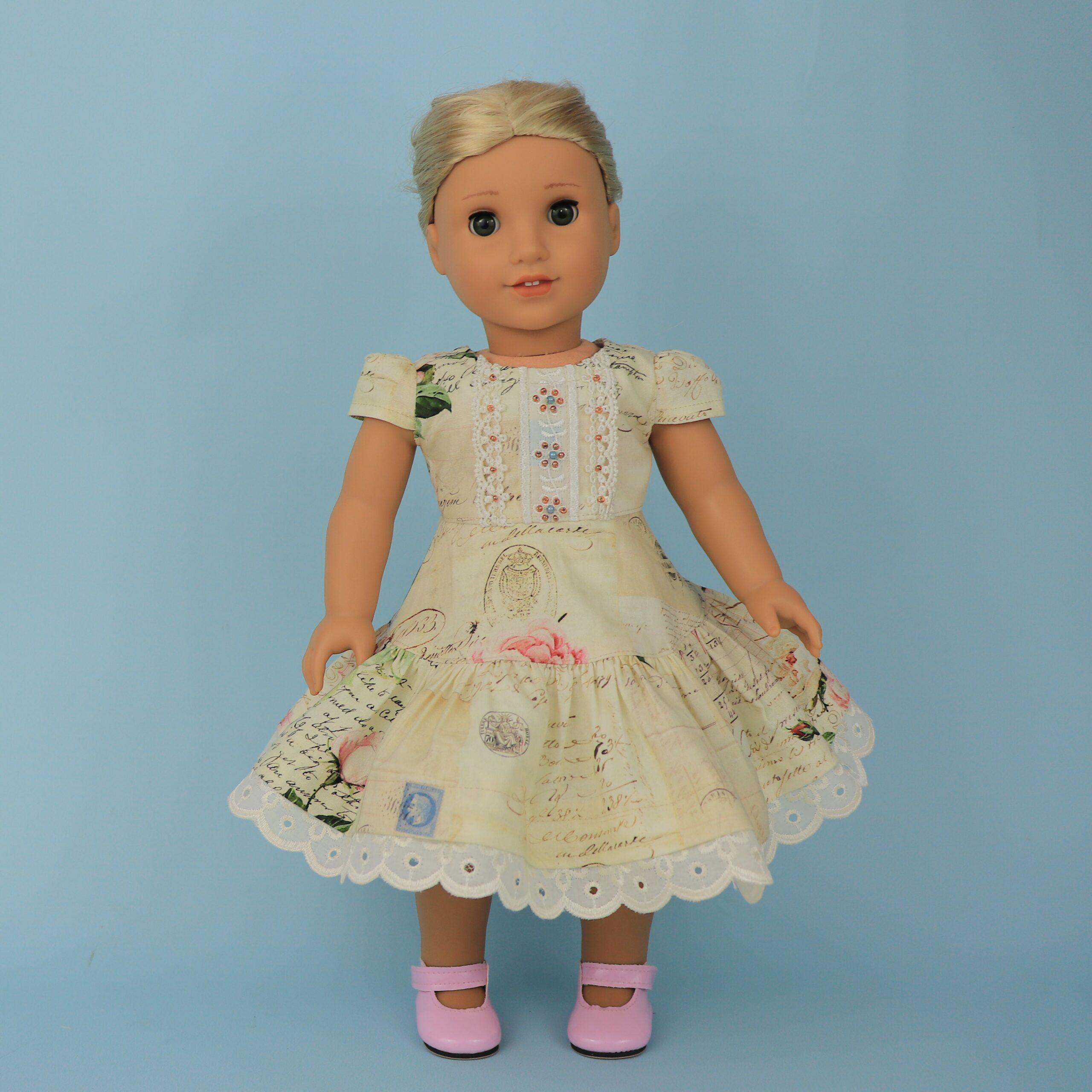 Isabella doll dress, american doll clothes, Isabella