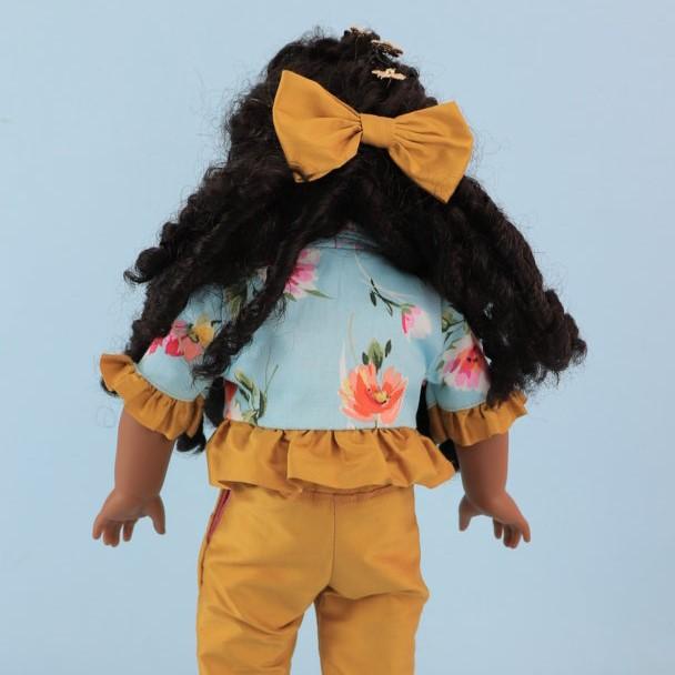 doll clothes, Capri Trousers, American Doll, Vintage, Frocks & Frolics, sewing pattern, ruffle hem