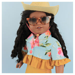 sewing doll clothes, 18 inch doll, American Girl, sewing methods for dolls, frocks and frolics, bolero jacket