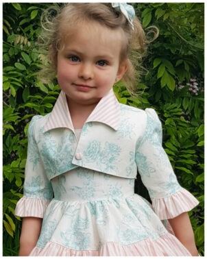 Girls Bolero Jacket, Paris, PDF Sewing Pattern, Frocks & Frolics