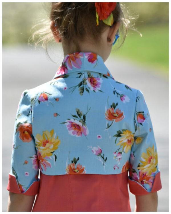 Girls Bolero Jacket, Paris, PDF Sewing Pattern, Frocks & Frolics