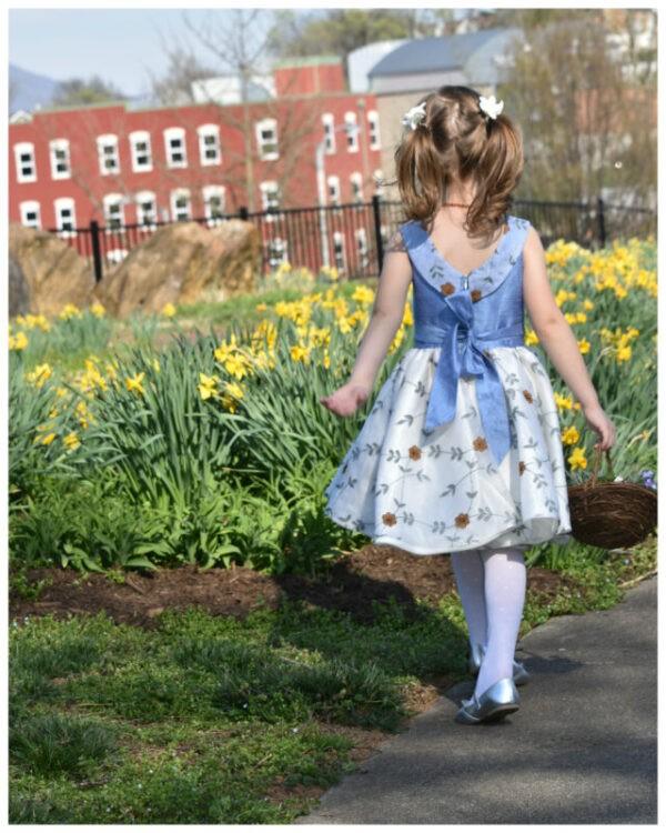 flower girl dress, girls dress, party dress, party frock, pdf sewing pattern