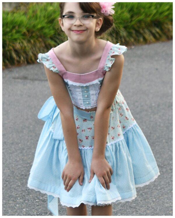 Bonnie tiered skirt, pdf sewing pattern, frocks & frolics,