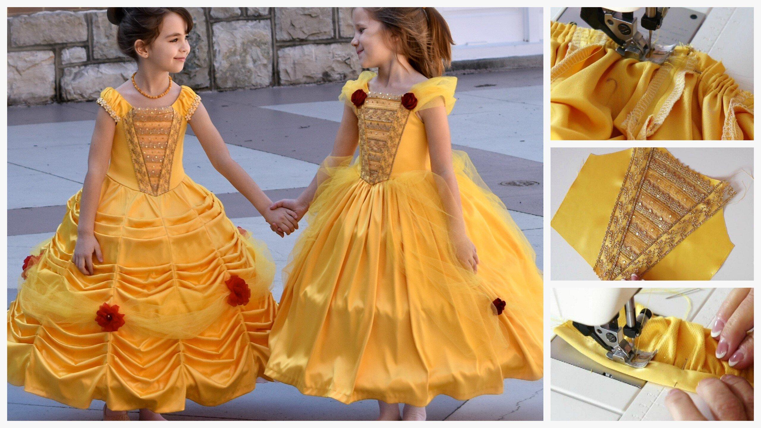 Princess Dress PDF Sewing Pattern, princess costume, Belle costume, Frocks & Frolics