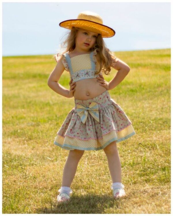 flutter sleeve crop top pdf sewing pattern