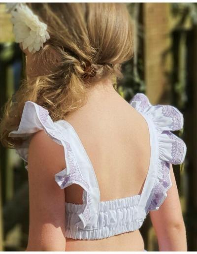 flutter sleeve crop top