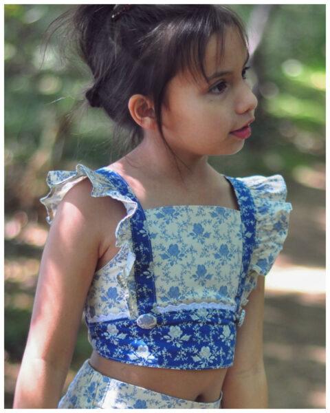 Tilly crop top pdf sewing pattern for girls, flutter sleeve, google, frock, frolics,