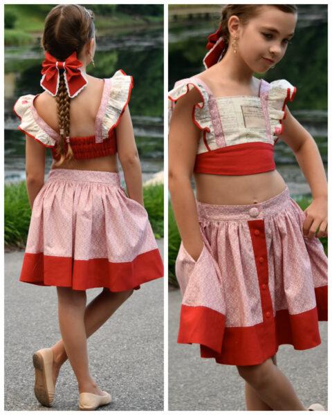 Betsy, vintage skirt, pdf sewing pattern, frocks and frolics, frocks, frolics, google, button down, side pockets