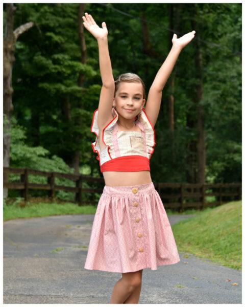 Betsy, vintage skirt, pdf sewing pattern, frocks and frolics, frocks, frolics, google, button down, side pockets, retro skirt, skirt DIY