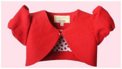 vintage bolero pdf sewing pattern, girls sewing patterns, jacket, puff sleeve, frocks and frolics