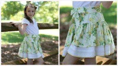 free sewing pattern, skirt, girls skirt, tiered skirt, frocks and frolics, bundle sale, vintage