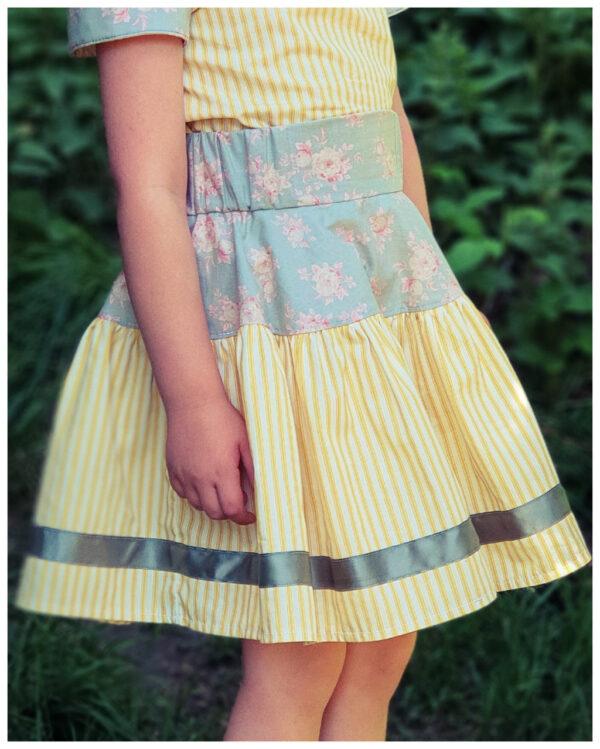 girls twirl skirt pdf sewing pattern