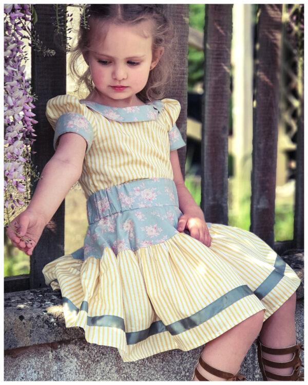 girls skirt vintage sewing pattern