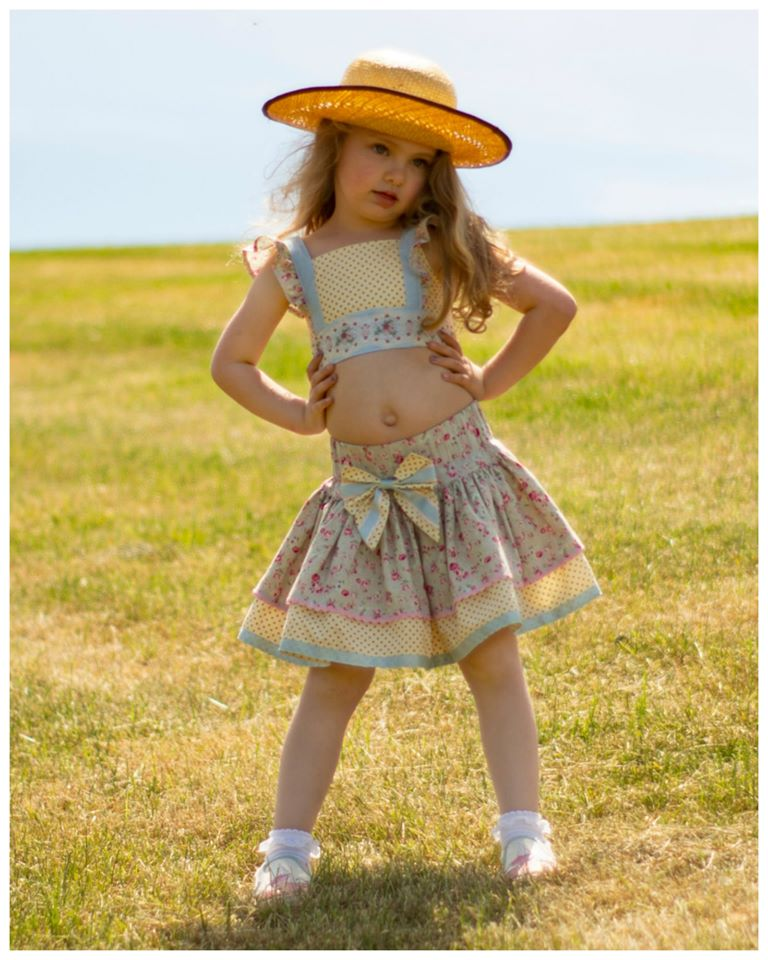 crop top for girls, pdf sewing pattern