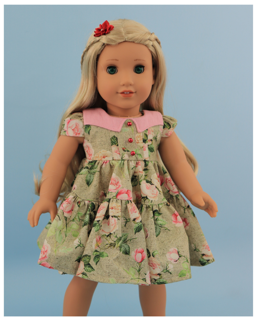 Doll clothes pdf sewing pattern, frocks & frolics, sewing for dolls, 18 inch doll, american doll