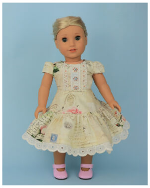 Doll clothes pdf sewing pattern, frocks & frolics, sewing for dolls, 18 inch doll, american doll, doll sewing