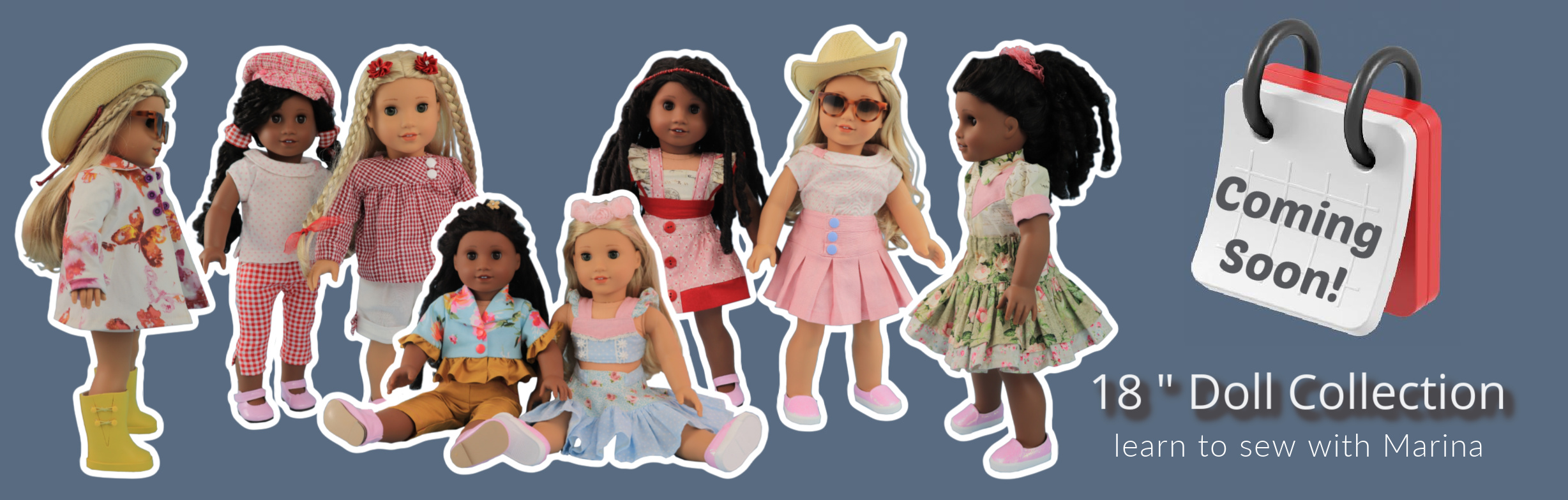 doll clothes, sewing pattern, pdf, american doll, Frocks & Frolics desk top