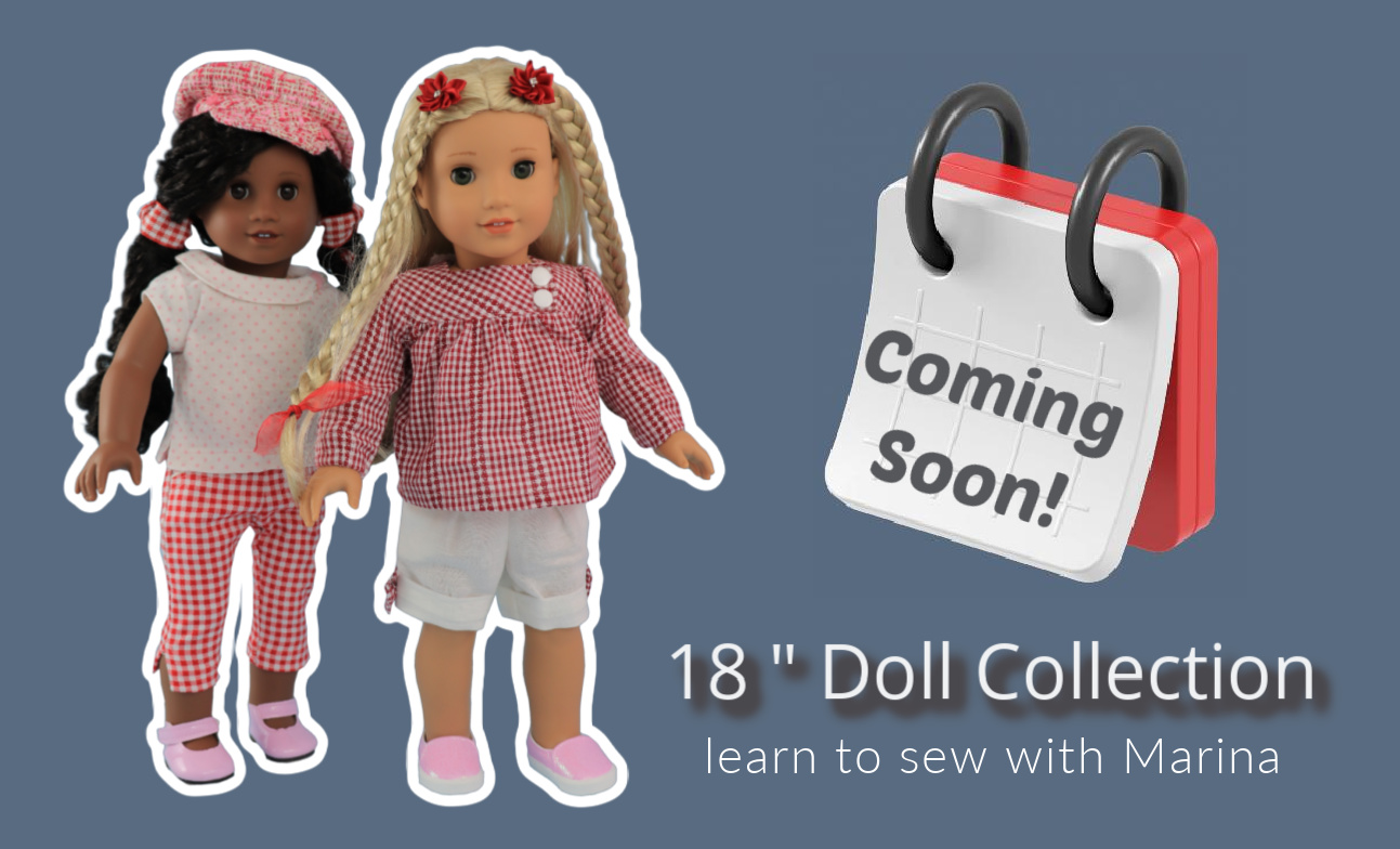 doll clothes, sewing pattern, pdf, american doll, Frocks & Frolics mobile