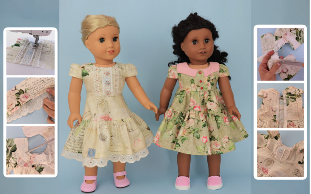 doll dress sewing pattern, Frocks & Frolics, sewing course