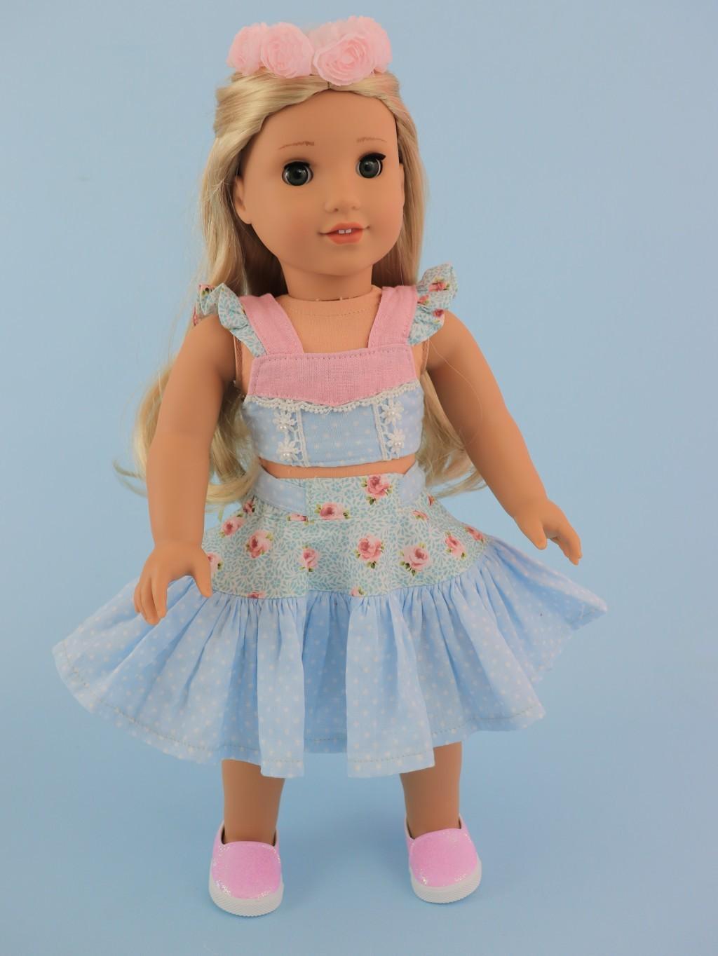 doll skirt sewing pattern, American doll, Frocks & Frolics