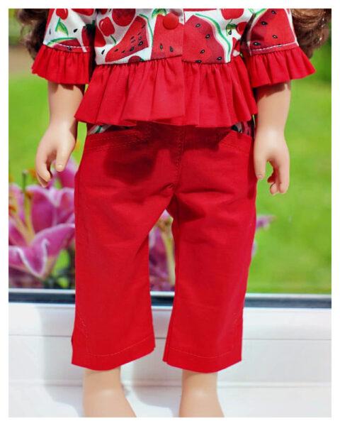Capri pants, doll clothes, sewing pattern, Frocksandfrolics, beginner, American girl, Audrey, 18 inch doll clothes, trouser sewing patter, me and my doll