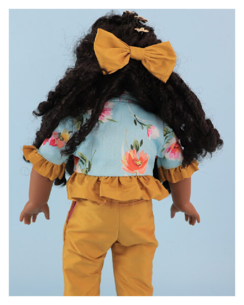 doll clothes, Capri Trousers, American girl, Vintage, Frocks & Frolics, sewing pattern, back view