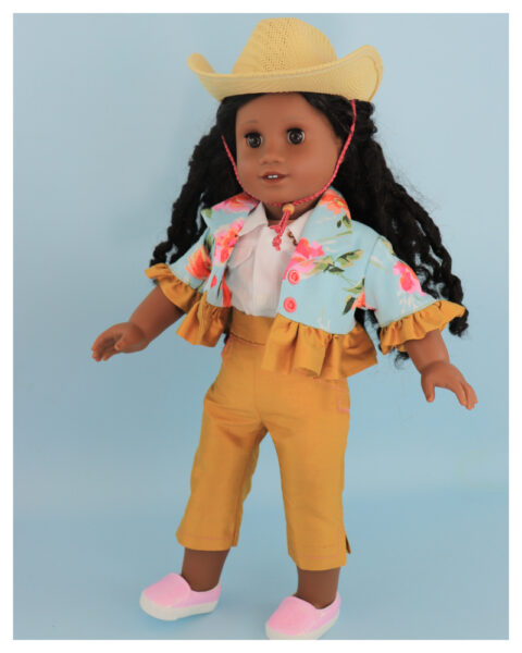 doll clothes, american girl, 18 inch doll clothes, doll dresses, Audrey Capri Pants, Paris bolero, jpg