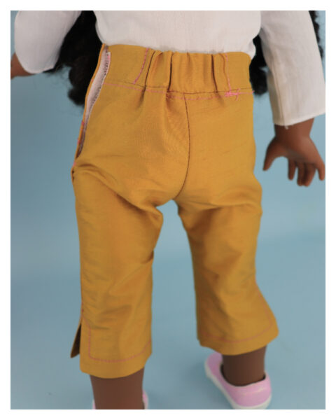 doll clothes, american girl, 18 inch doll clothes, doll dresses, Audrey Capri Pants, back view