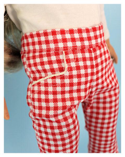 doll clothes, american girl, 18 inch doll clothes, doll dresses, Audrey Capri Pants, closeup pants