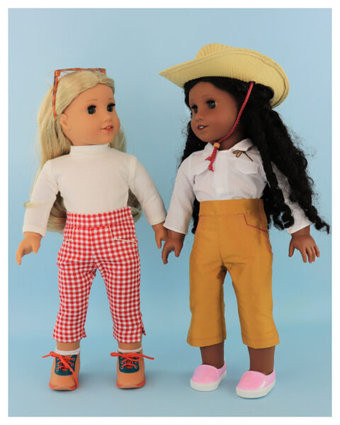 doll clothes, american girl, 18 inch doll clothes, doll dresses, Audrey Capri Pants, sewing