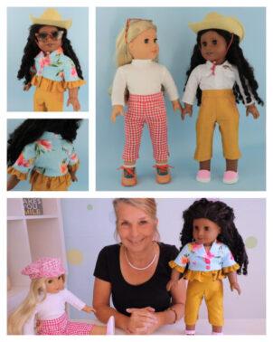 pdf sewing pattern bundle, capri pants, bolero jacket, learn to sew, video tutorial