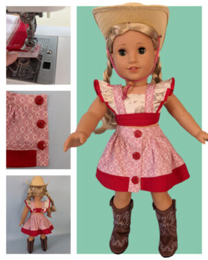Betsy sewing pattern bundle, skirt and crop top, american girl doll clothes, sew doll clothes