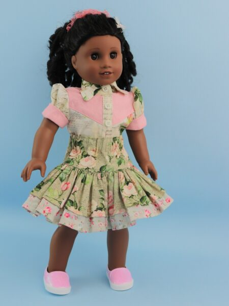 doll clothes, 18 inch doll, blouse, skirt, Scarlett, western blouse, Frocks & Frolics, frocks, frolics, Pixie Faire
